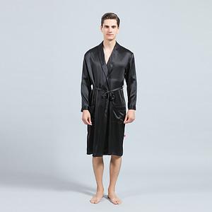 mens-mulberry-silk-lapel-collar-long-kimono-robes-bathrobe-soft-sleepwear-loungewear-color-black-01