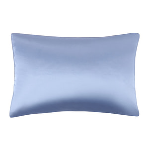 100% Mulberry Silk Both Side Silk Bed Pillowcase with Hidden Zipper - Light Blue