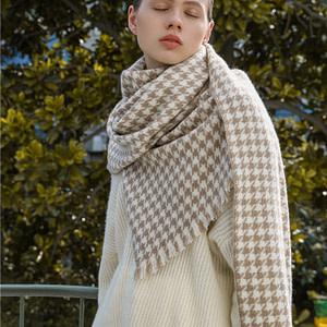 100-percent-cashmere-houndstooth-scarf-shawl-220g-khaki-05