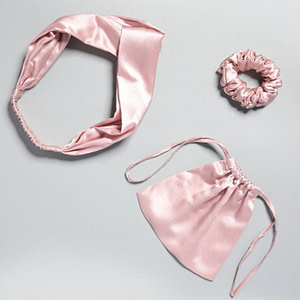 luxury-22-momme-mulberry-silk-hair-ties-set-3pcs-1-hair-scrunchie-1-elastic-twisted-headband-1-storage-bag-color-pink