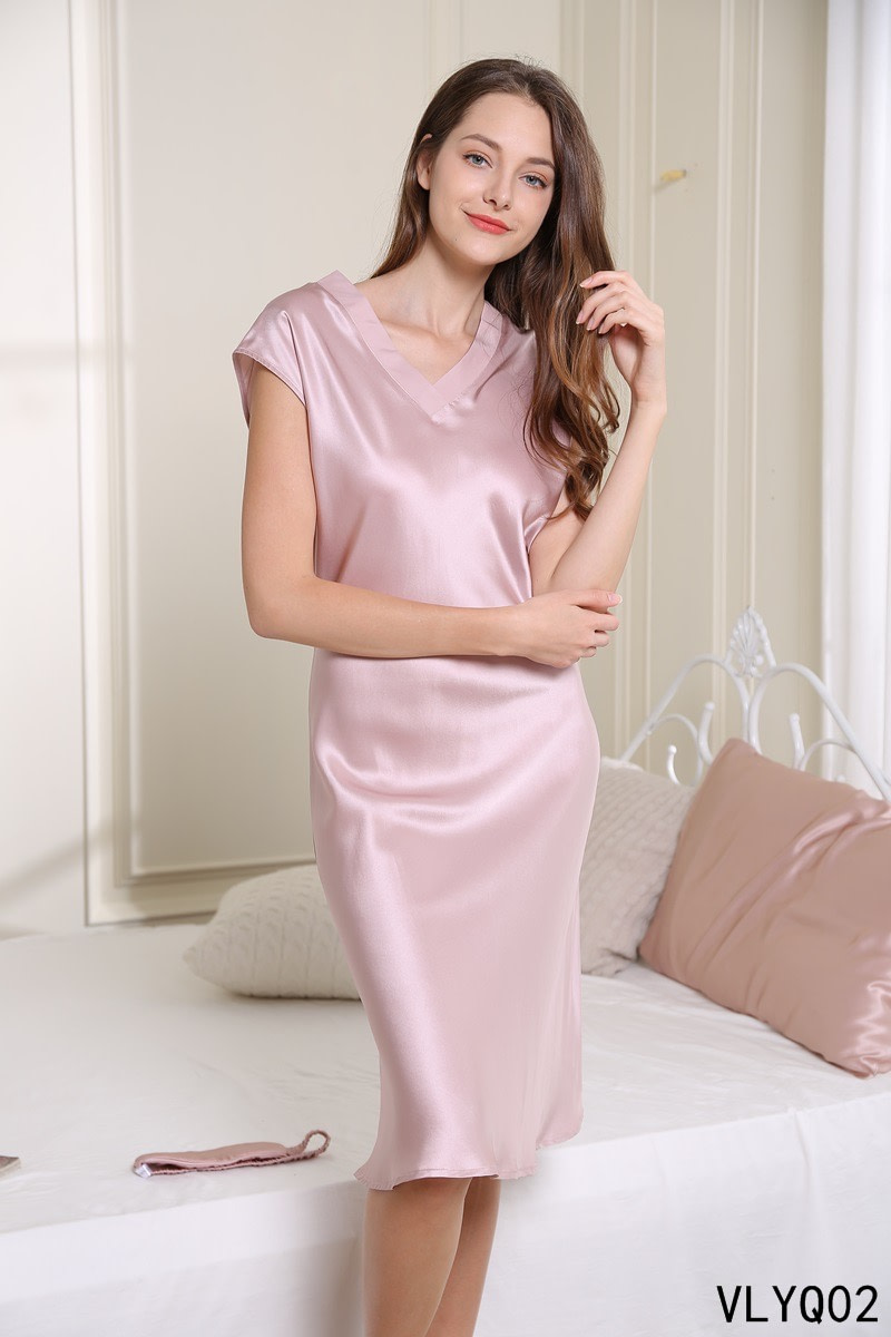 100-percent-mulberry-v-neck-nightgown-dress-for-women-sleepwear-chemise-color-pink-01