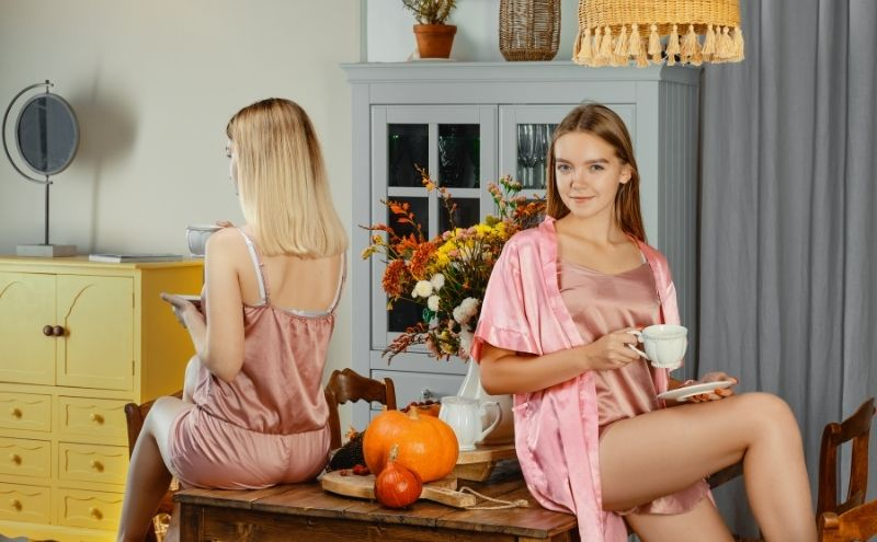 AliceTod Silk Pajamas Image